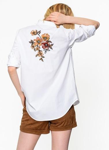 Çiçek Desenli Gömlek-Only